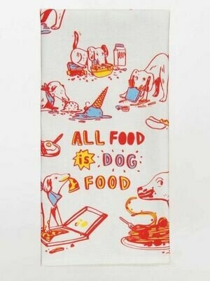 BlueQ All Food Is Dog Food Dish Towel
