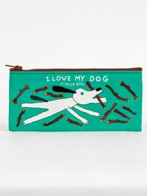 BlueQ I Love My Dog Zipper Skinny Wallet