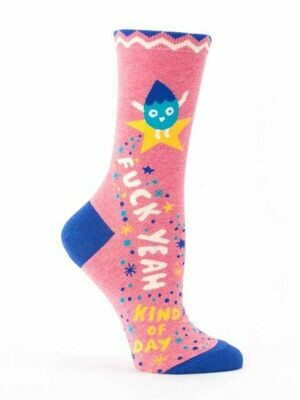 BlueQ Fuck Yeah Kind Of Day Women's Crew Socks