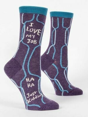 BlueQ I Love My Job Women's Crew Socks