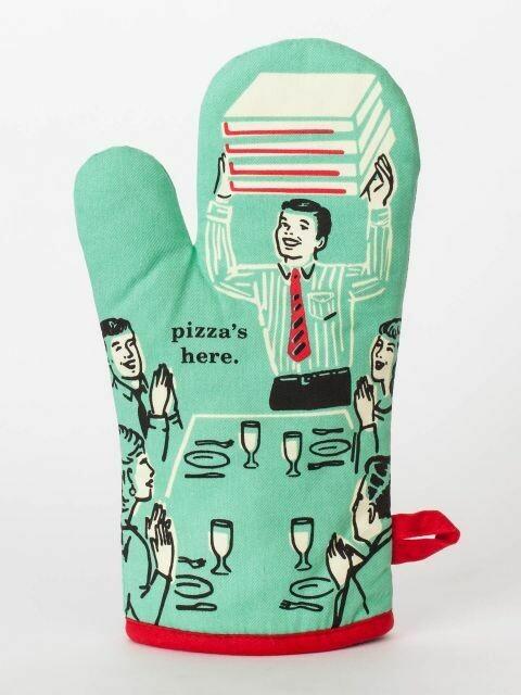 BlueQ Pizza's Here Oven Mitt