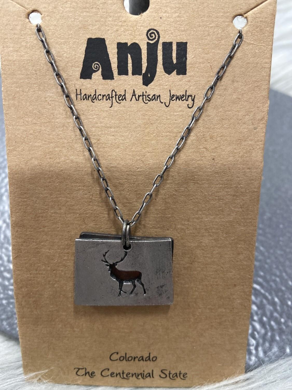Colorado Deer Necklace