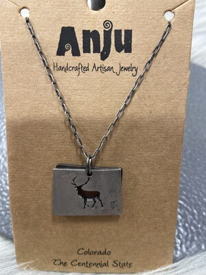 Colorado Deer Necklace