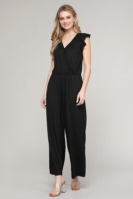 BLACK LONG ROMPER