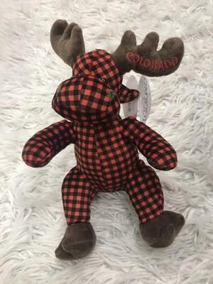 Plaid Plush Moose