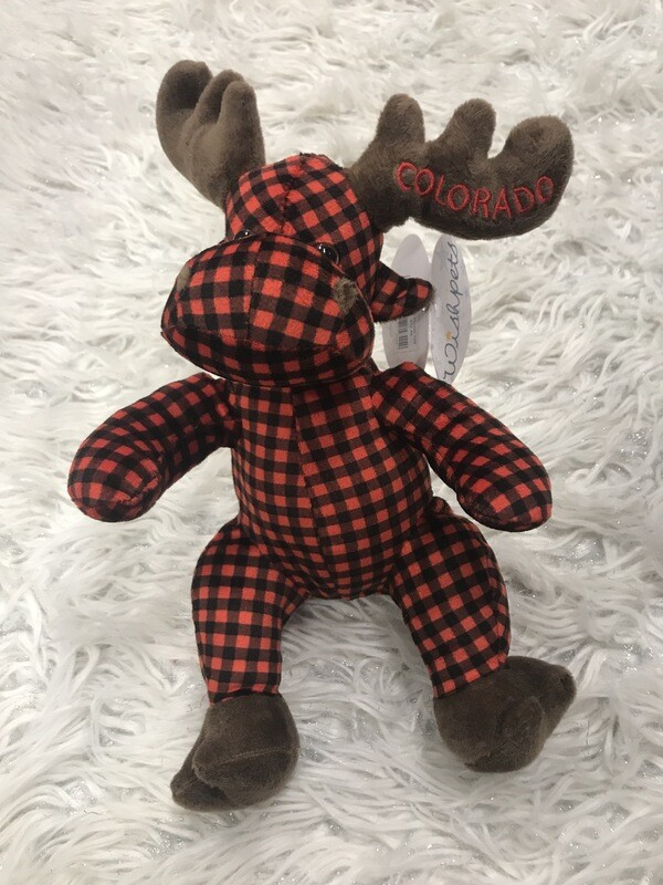 Plaid Plush Moose