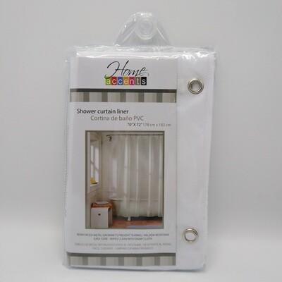 CORTINA BANHO PVC BLANCO 70X72''