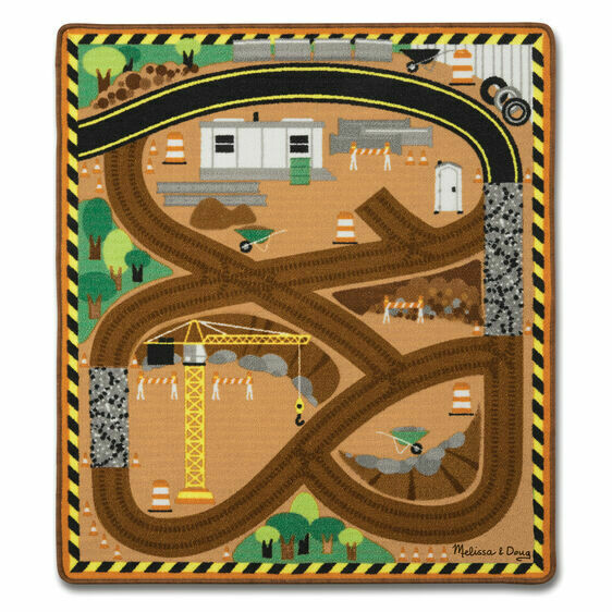 19407-ME ROUND THE SITE CONSTRUCTION TRUCK RUG