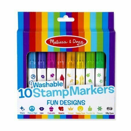 9079-ME 10 STAMP MARKERS - FUN DESIGNS