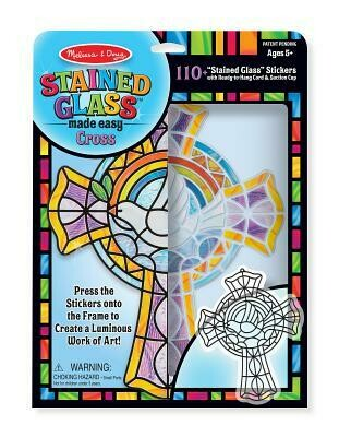 9290-ME STAINED GLASS - CROSS
