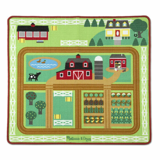 19425-ME ROUND THE BARNYARD FARM RUG  (99CM X 91CM