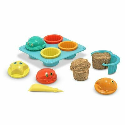 6431-ME Seaside Sidekicks Sand Cupcake Set