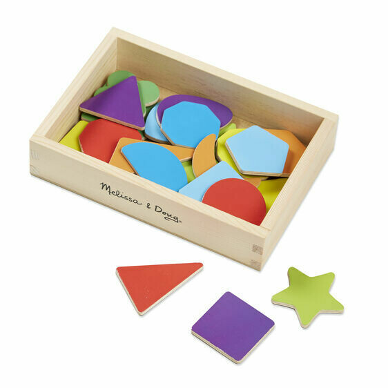 9277-ME Magnetics Wooden Shape and Colors