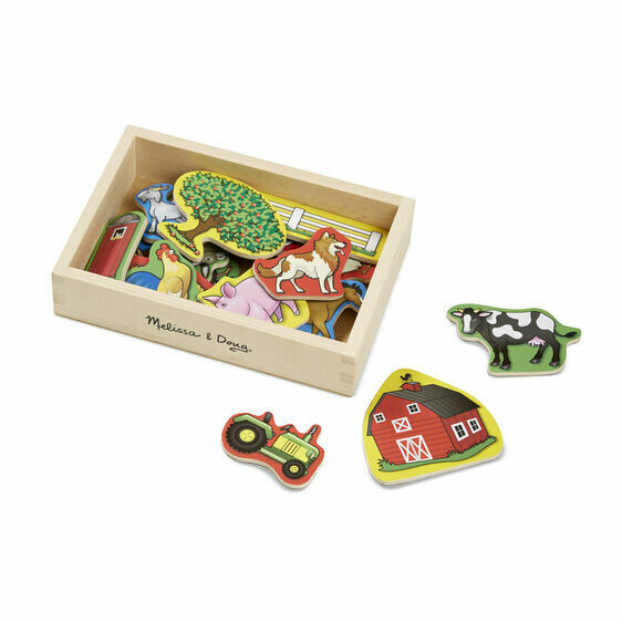 9279-ME Wooden farm magnets