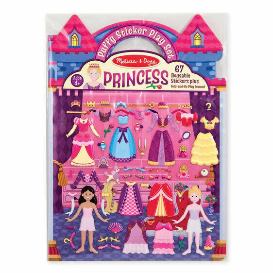 9100-ME Puffy Stickers - Princess