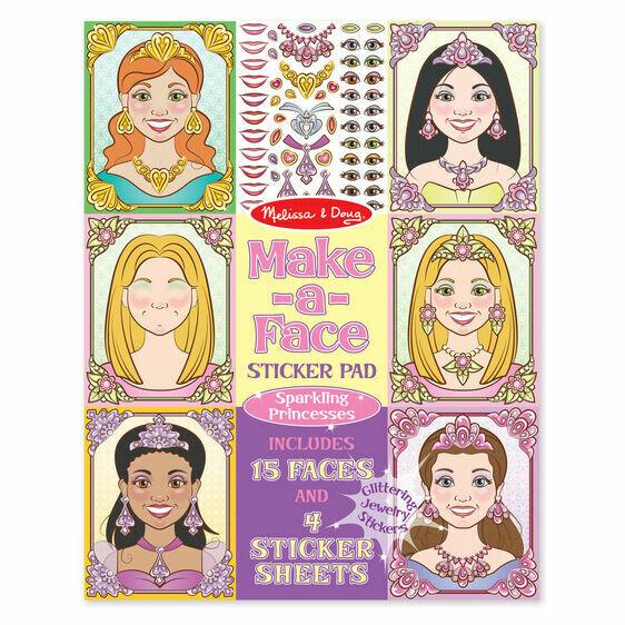 9433-ME Sticker Pad - Sparkling Princesses