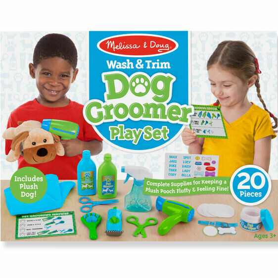 8568-ME Wash & Trim Dog Grooming Play Set