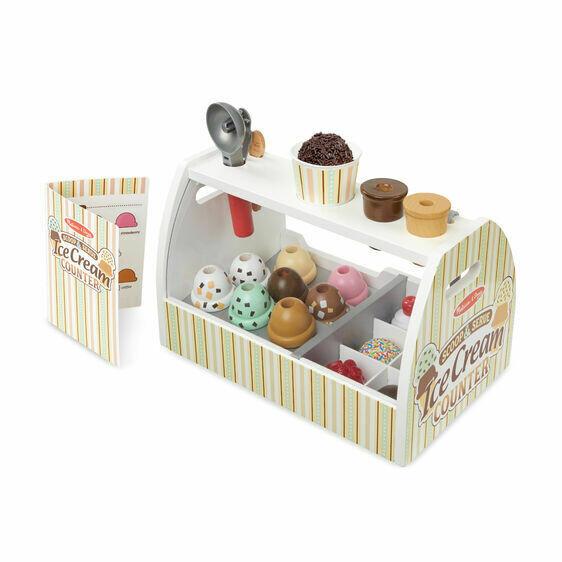 9286-ME Wooden Ice cream counter