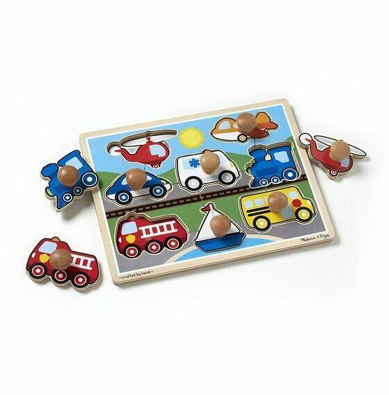 8980-ME Vehicles Jumbo Knob Puzzle