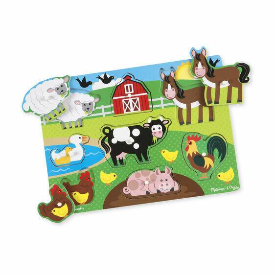 9050-ME Farm Peg Puzzle