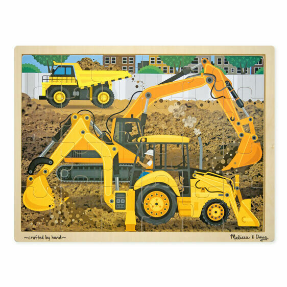9064-ME Diggers at Work Jigsaw Puzzle (24pcs)