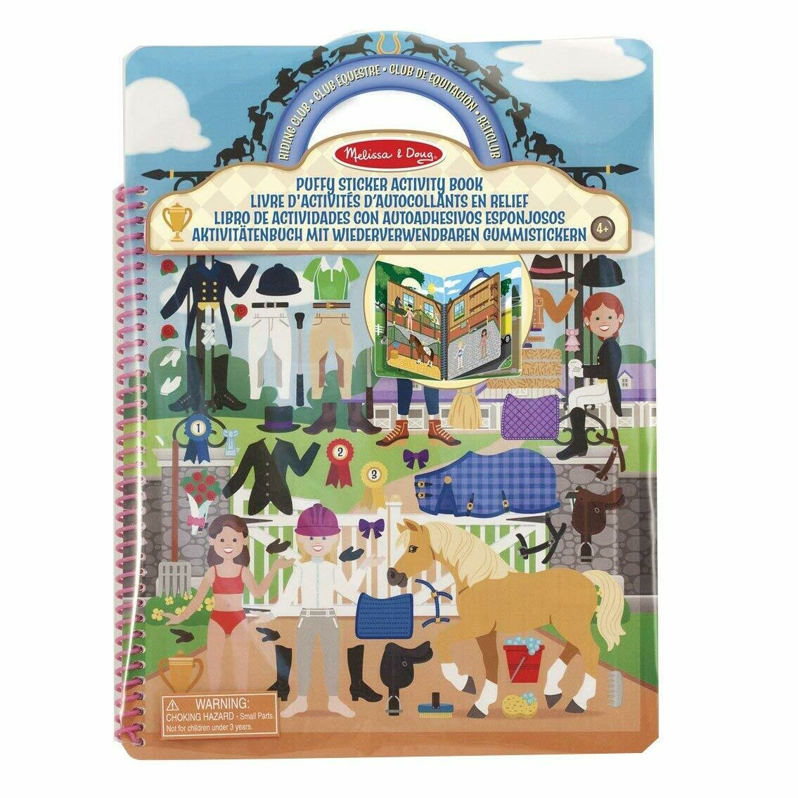 9410-ME Puffy Stickers Book - Riding Club
