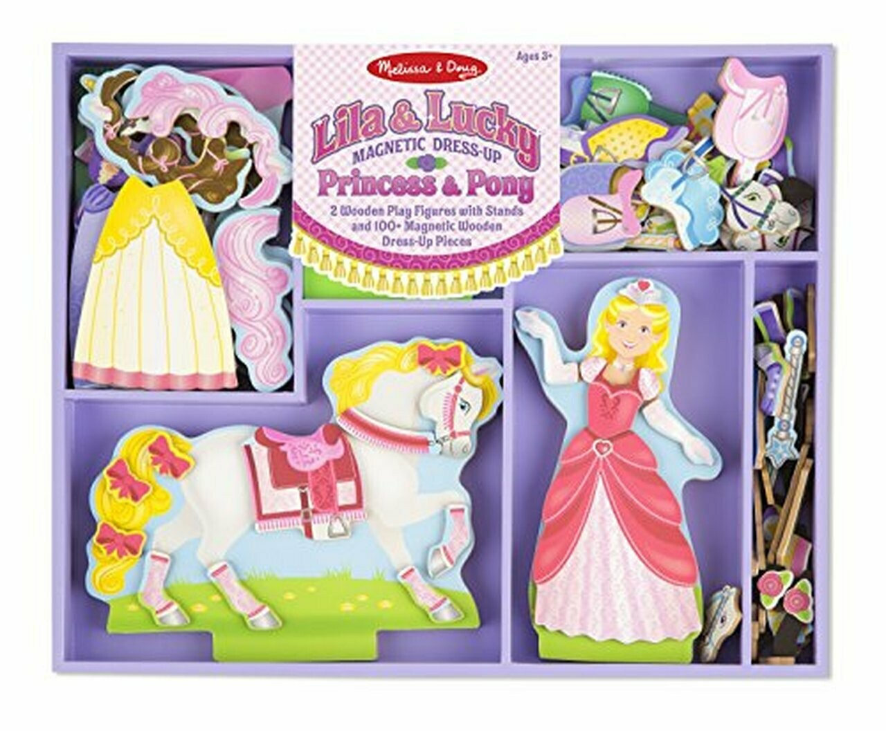 9281-ME Princess & Pony Magnetic Dress-Up Set