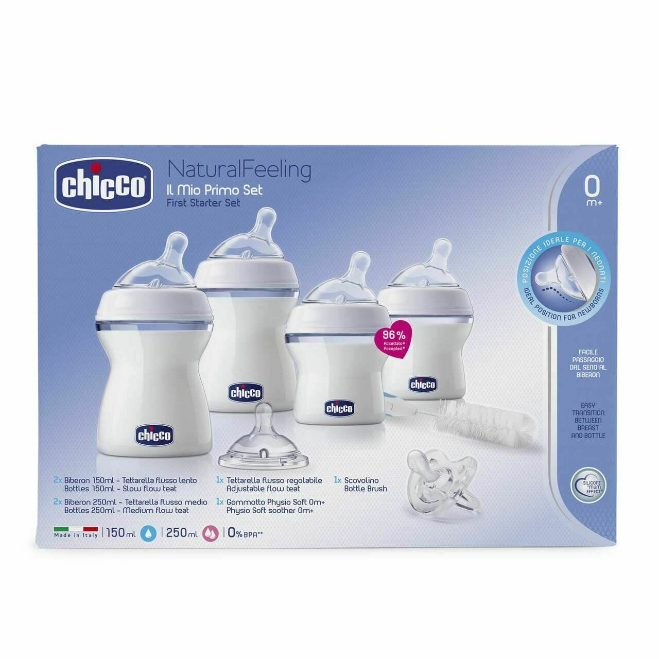 SET COMPLETO INICIO NATURAL FEELING 0M+ CHICCO
