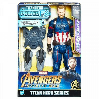 AVENGERS TITAN HERO 12IN POWER FX CAPITAN AMERICA