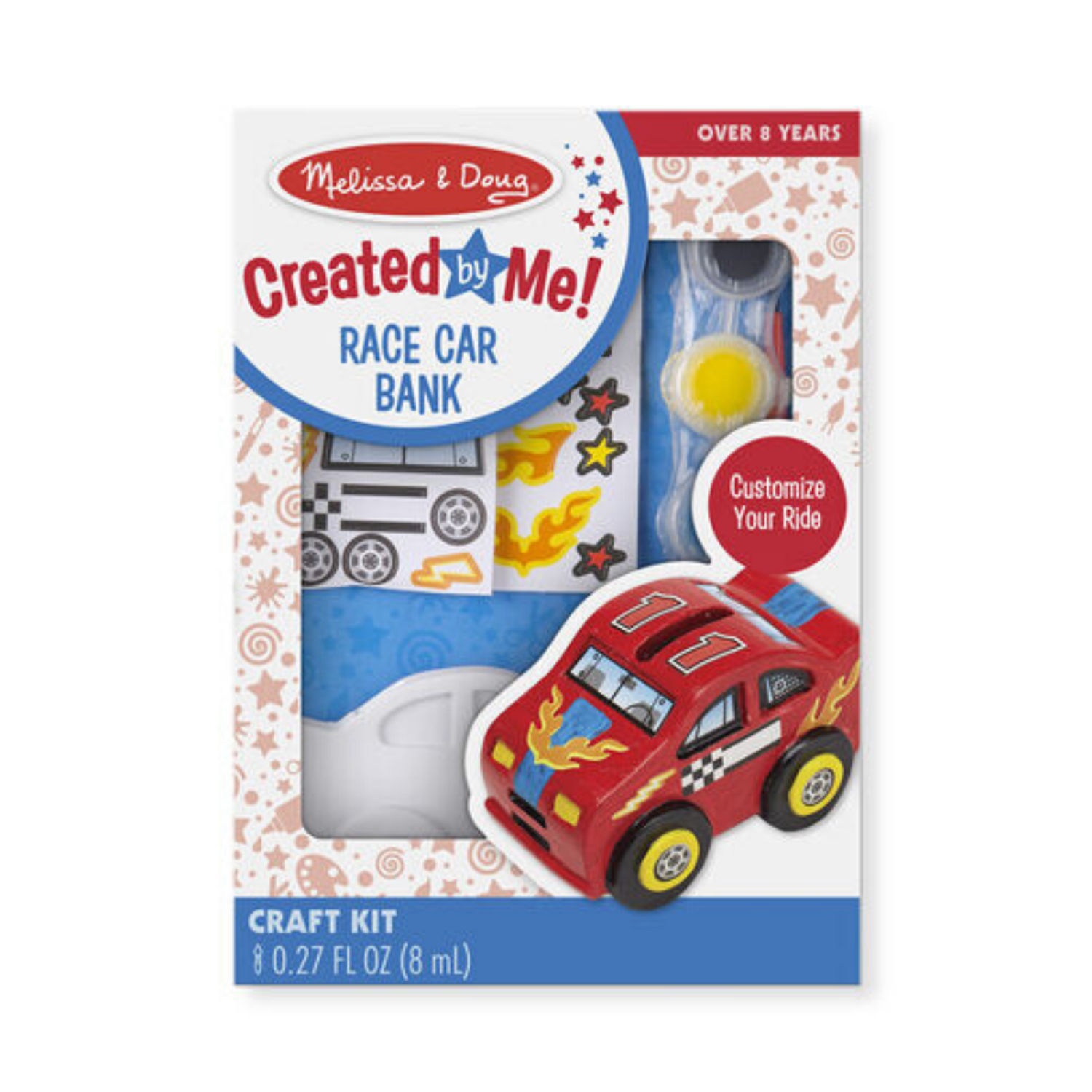 8863-ME DYO RACE CAR BANK
