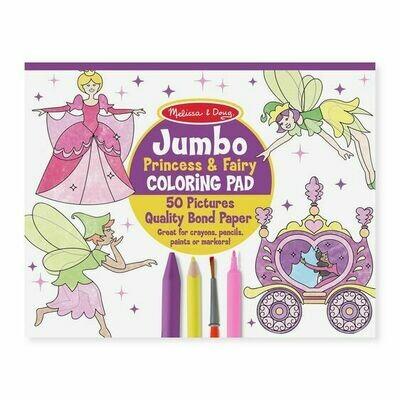 4263-ME JUMBO COLORING PAD - PRINCESS & FAIRY