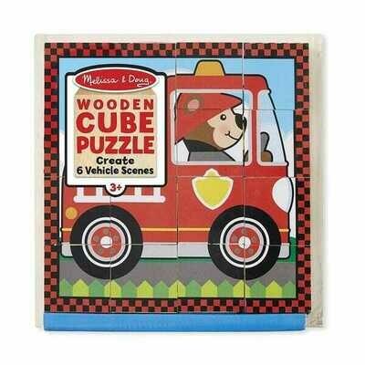 772-ME CUBE PUZZLE - VEHICLES