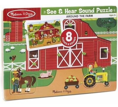 32800-ME AROUND THE FARM SOUND PUZZLE