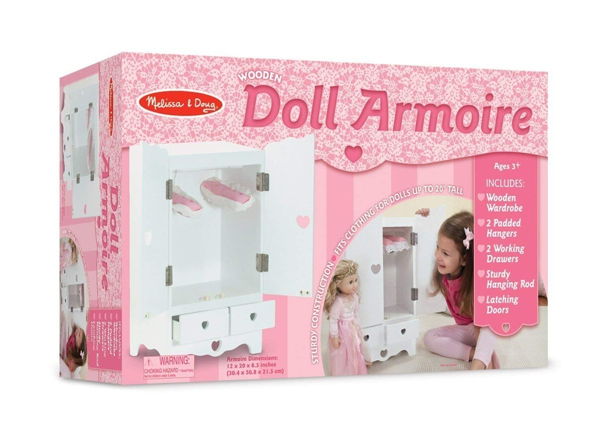 9384-ME WOODEN DOLL ARMOIRE
