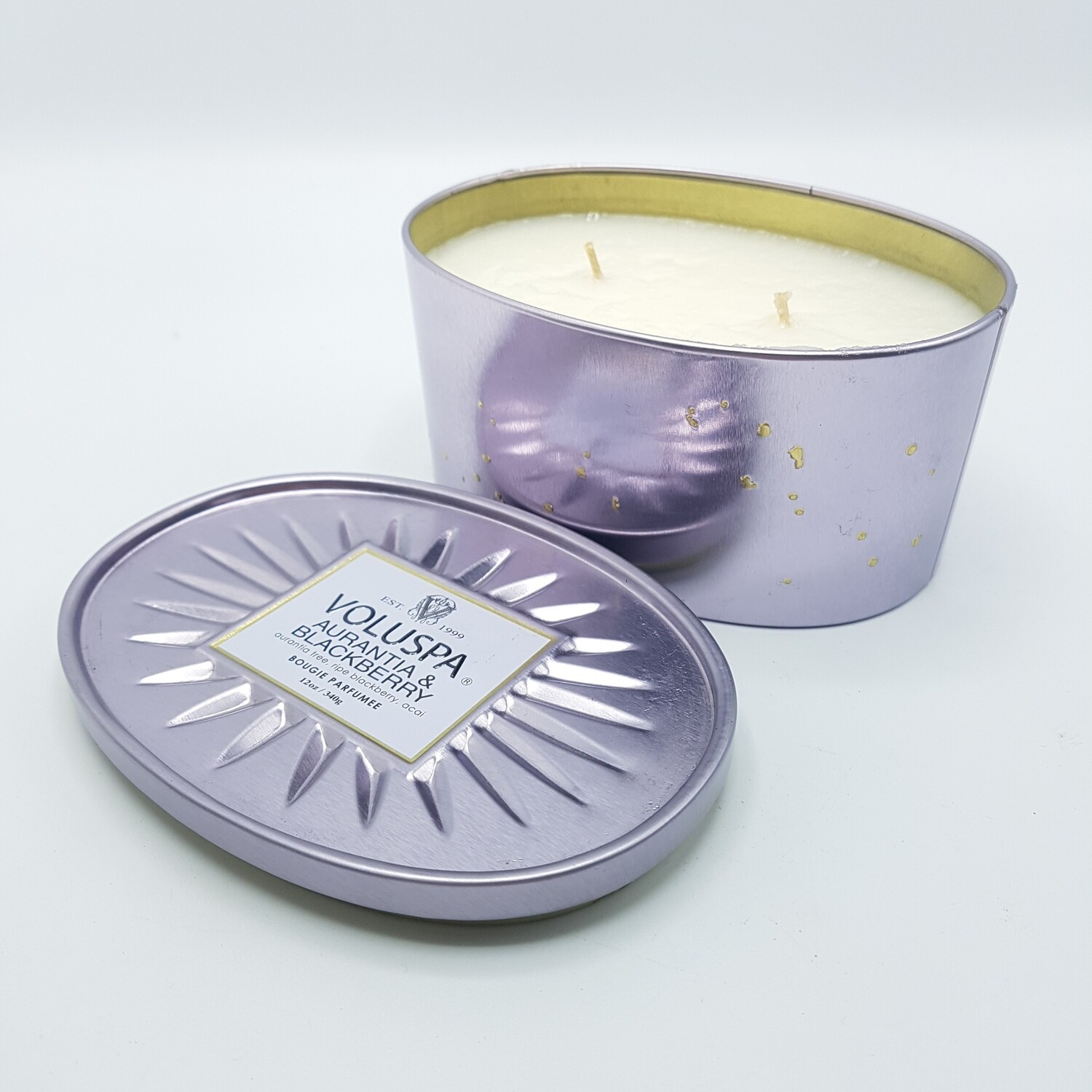 DECO OVAL TIN 2WICK Aurantia & Blackberry VOLUSPA