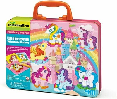 UNICORN WINDOW PAINTS THINKING KITS 4M