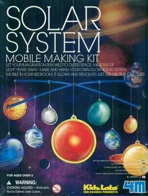KIDZ LABS GLOW SOLAR SYSTEM MOBILE MAKING KIT 4M
