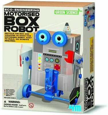 BOX ROBOT GREEN SCIENCE 4M