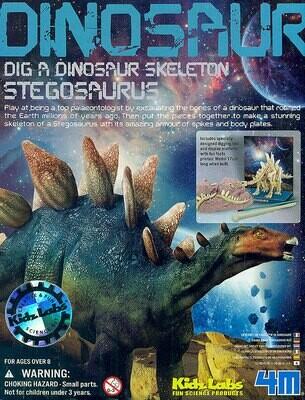 Kidz Labs Dig a Stegosaurus Skeleton 4M