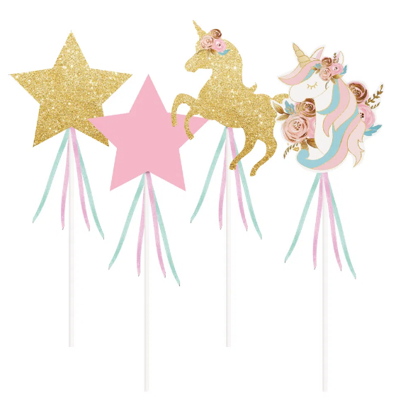 PICK LONGO DECORATIVO UNICORNIO SORTIDO UV 12x08