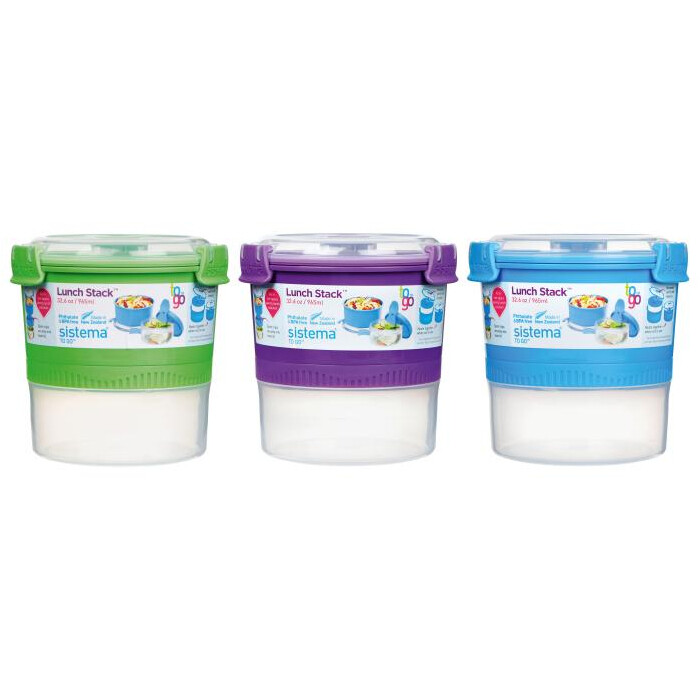 LUNCH STACK TO GO 965ML 13.3X13.3X13.3CM SISTEMA