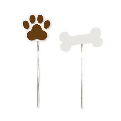 PICK DECORATIVO CACHORRINHOS SORTIDO UV 10x12