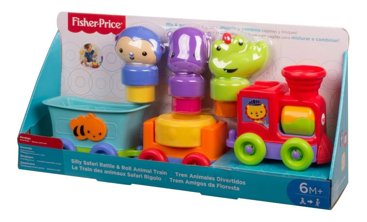 FISHER PRICE SILLY SAFARI TRAIN ANIMALES
