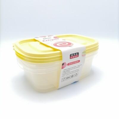 ENVASE PLASTICO SET/3PCS 18CMX12CMX6CM