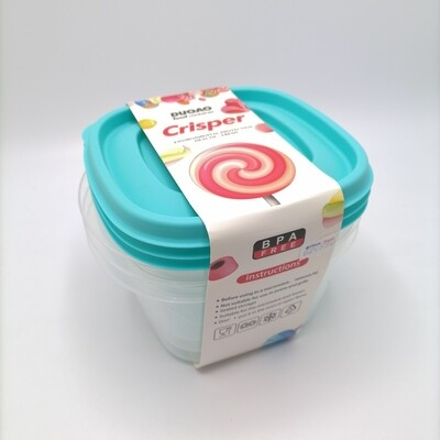 CONSERVA 3PCS/BOX 15X15X8CM PLASTICO