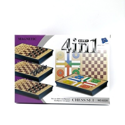 JUEGO MESA 4 IN 1 MAGNETIC CHESS