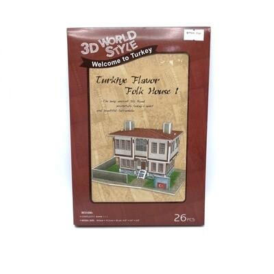 ROMPECABEZAS 3D JIGSAW TURQUIA FOLK HOUSE 1 W3109 YC