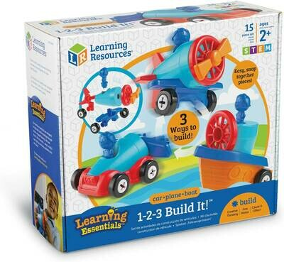 1-2-3 BUILDIT CAR BOAT PLANE LEARNING RESOURCES