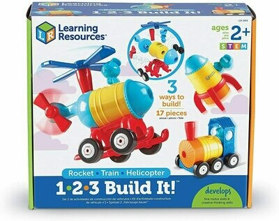 1-2-3 BUILDIT ROCKET-TRAIN-HELICOPTER LEARNING RESOURCES