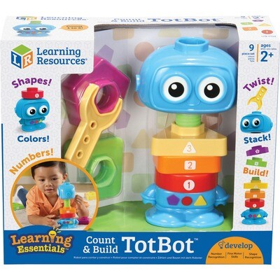 COUNT AND BUILD TOTBOT LEARNING RESOURCES